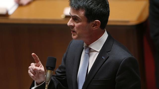 Le Premier ministre Manuel Valls à l'Assemblée Nationale, le 26 janvier 2016 [THOMAS SAMSON / AFP/Archives]