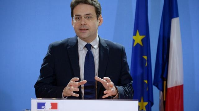 Le secrétaire d'Etat au Commerce extérieur, Matthias Fekl, lors de la présentation des chiffres sur le déficit commercial en France en 2015, à Paris, le 5 février 2015  [ERIC PIERMONT / AFP]