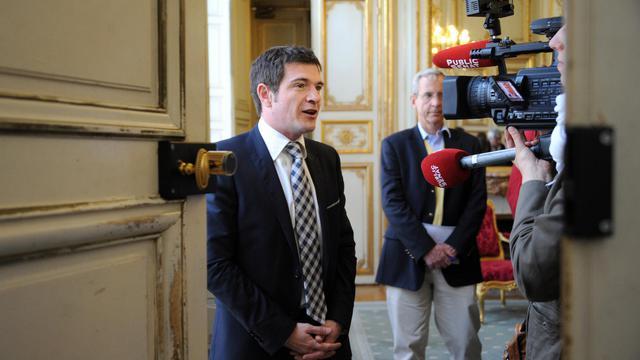 L'ancien ministre UMP du Logement Benoist Apparu, le 17 mai 2012 à Paris [Johanna Leguerre / AFP/Archives]