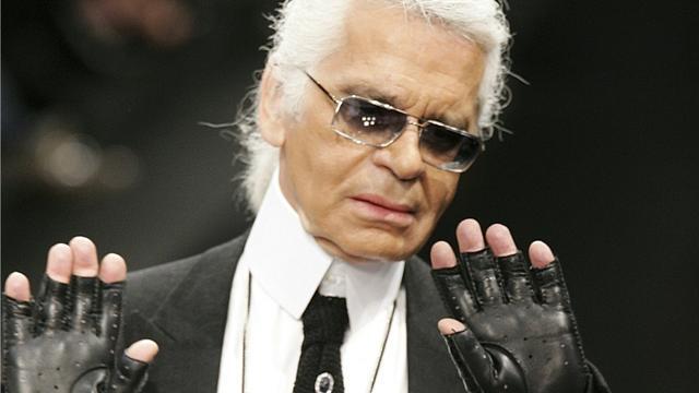 Le couturier Karl Lagerfeld à Paris le 5 octobre 2005 [PIERRE VERDY / AFP/Archives]