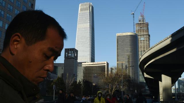 Le quartier des affaires de Pékin, le 10 décembre 2015 [GREG BAKER / AFP/Archives]