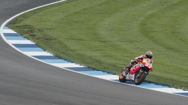L'Espagnol Marc Marquez lors des essais libres du GP d'Indianapolis, le 8 août 2014 [Getty Images / Getty Images/AFP]
