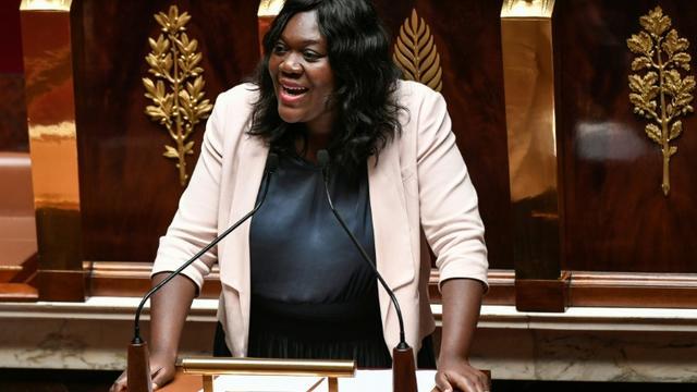 La députée LREM Laetitia Avia, à l'Assemblée nationale, à Paris, le 3 juillet 2019 [STEPHANE DE SAKUTIN / AFP/Archives]