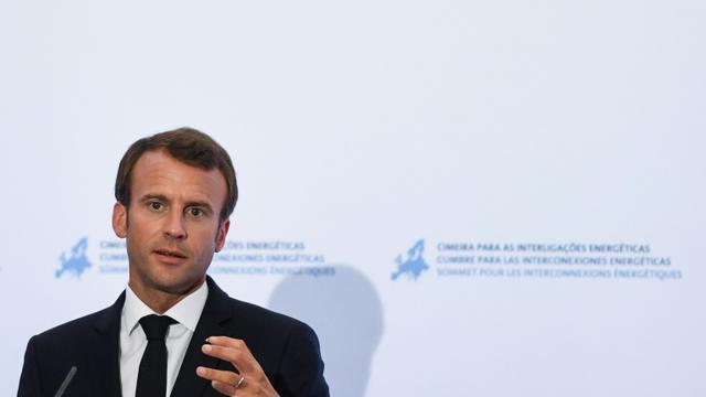 Emmanuel Macron en visite à Lisbonne le 27 juillet 2018 [PATRICIA DE MELO MOREIRA / AFP]