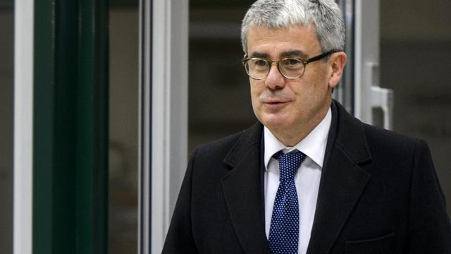 Jacques Audibert, alors directeur des affaires politiques au Quai d'Orsay, arrive le 20 novembre 2013 à Genève aux négociations sur l'épineux dossier du nucléaire iranien [Fabrice Coffrini / AFP/Archives]