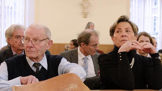Pierre et Viviane Lambert, les parents de Vincent Lambert, au tribunal administratif de Châlons-en-Champagne le 15 janvier 2014, qui a décidé du maintien en vie de leur fils [Herve Oudin / AFP/Archives]