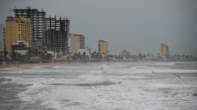 Le bord de mer à Mazatlan, dans l'Etat du Sinaloa, avant l'arrivée de l'ouragan Willa, le 22 octobre 2018 au Mexique [ALFREDO ESTRELLA                     / AFP]