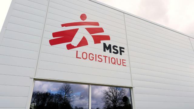 La plate-forme logistique de Médecins Sans Frontières le 13 mar 2015 à Mérignac [JEAN-PIERRE MULLER, - / AFP/Archives]