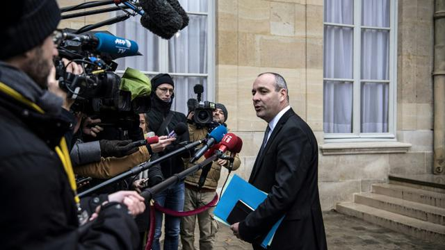 Le secrétaire général de la CFDT Laurent Berger à l'issue d'une réunion avec le Premier ministre Edouard Philippe.