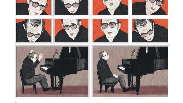 """Un extrait d'une planche de la bande dessinée """"Glenn Gould, une vie à contretemps"""", de Sandrine Revel, paru chez Dargaud."""