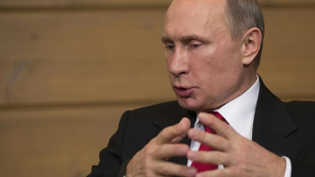 Le président russe Vladimir Putin, le 22 octobre 2015, à Sotchi [ALEXANDER ZEMLIANICHENKO / POOL/AFP/Archives]