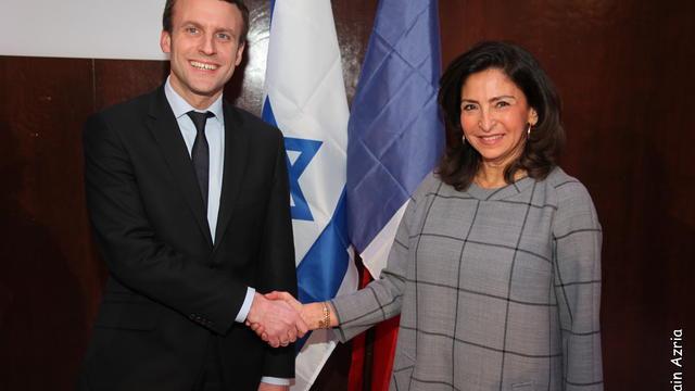Le ministre a été reçue par Nicole Guedj, la présidente de la Fondation France-Israël.