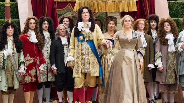 """Alan Rickman joue au côté de Kate Winslet dans son deuxième long métrage """"Les jardins du roi""""."""