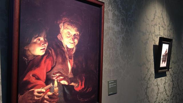 """La prise en compte du relief met aussi en avant la brillance d'une toile, comme ici avec """"Vieille femme et jeune garçonaux chandelles"""" de Rubens."""