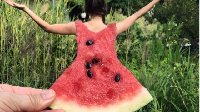Les internautes postent leurs clichés de robe-pastèque accompagné du hashtag #watermelondress