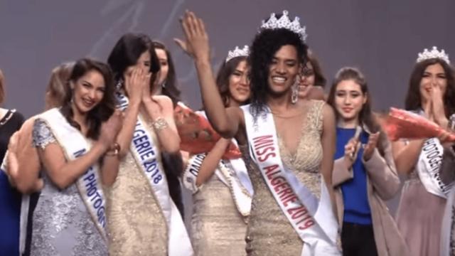 Khadidja Benhamou a été élue Miss Algérie 2019 vendredi 4 janvier, face à treize autres jeunes femmes, lors d'une cérémonie organisée au Théâtre national algérien, à Alger.