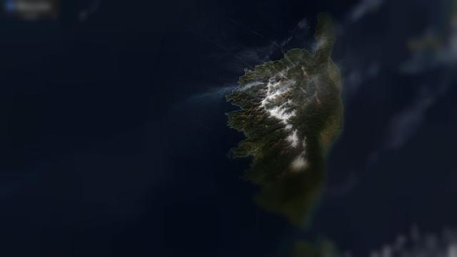 La photo prise dimanche 24 février par le satellite montre nettement une fumée blanche émanant du village de Calenzana.