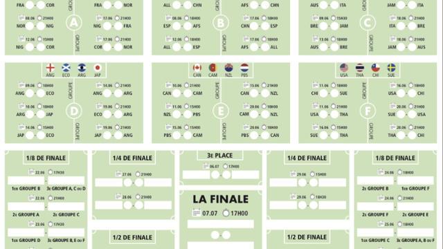 Coupe Du Monde Feminine 2019 Calendrier Stade.Telechargez Le Calendrier De La Coupe Du Monde Feminine De