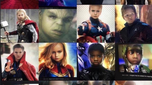 Les acteurs d'Avengers avec le filtre Snapachat