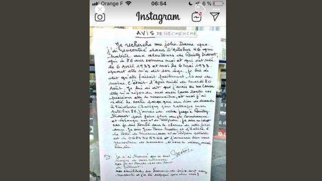 L'octogénaire, sous le charme de l'inconnue, a affiché sa lettre à 25 reprises sur la ligne 46 du bus.