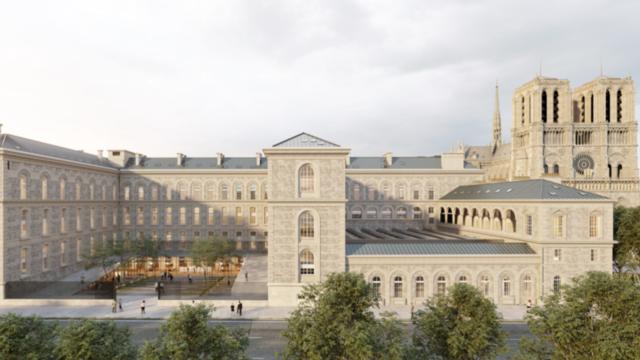 Le projet de l'architecte Anne Démians à l'Hôtel Dieu, sur l'île de la Cité.