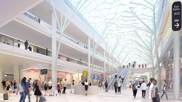 L'espace dédié aux commerces est estimé à 18.000 m2, contre 5.000 m2 aujourd'hui.