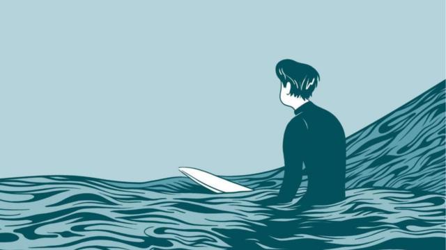 «In Waves» est la première, et bouleversante BD de l'Américain Aj Dungo (Casterman)