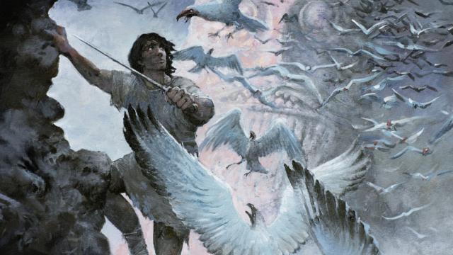 En dessinant la couverture de ce tome 37 des aventures de Thorgal, Rosinski a passé le flambeau à Fred Vignaux