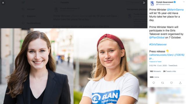 A 16 Ans Cette Jeune Fille Devient Premiere Ministre Finlandaise Pour Une Journee Cnews