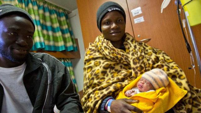 La petite Mercy est née sur l Aquarius le 21 mars dernier.