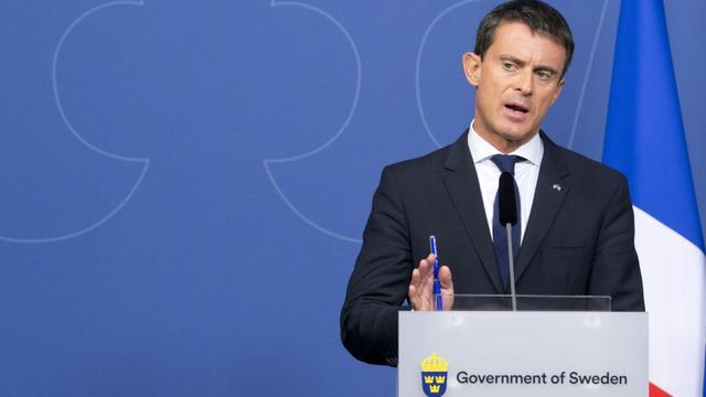 Le Premier ministre Manuel Valls à Stockholm, le 18 septembre 2015 [Jonathan Nackstrand / AFP]