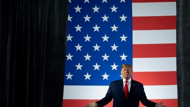 Le président américain Donald Trump, lors d'un meeting de campagne dans l'Ohio le 9 janvier 2020 [SAUL LOEB / AFP]
