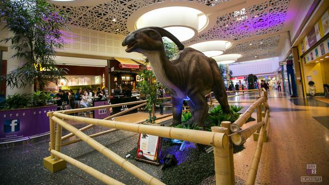 Six reproductions de dinosaures sont exposées jusqu'au 11 novembre.