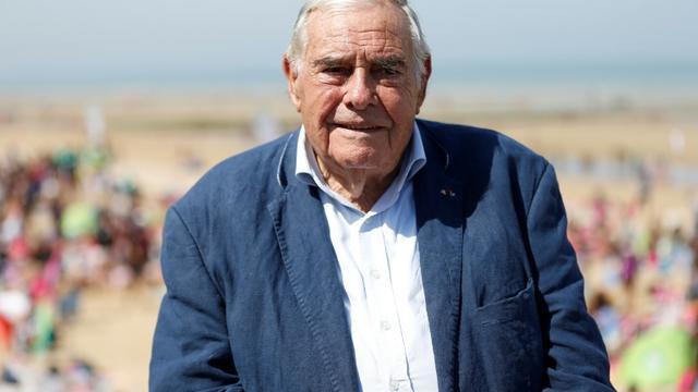 Julien Lauprêtre, président du Secours populaire, à Cabourg le 25 août 2016. [CHARLY TRIBALLEAU / AFP/Archives]