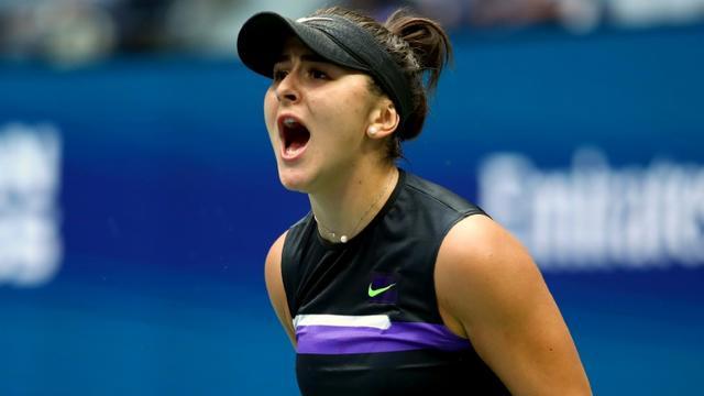 La Canadienne Bianca Andreescu s'impose en finale de l'US Open en battant l'Américaine Serena Williams le 7 septembre 2019 [CLIVE BRUNSKILL / GETTY IMAGES NORTH AMERICA/AFP]