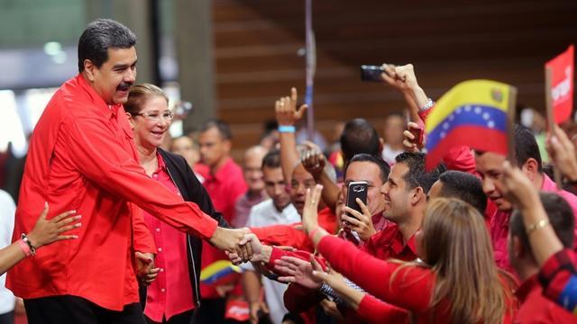 Nicolas Maduro et son épouse Cilia Flores à Caracas le 2 février 2018 [HO / Venezuelan Presidency/AFP]