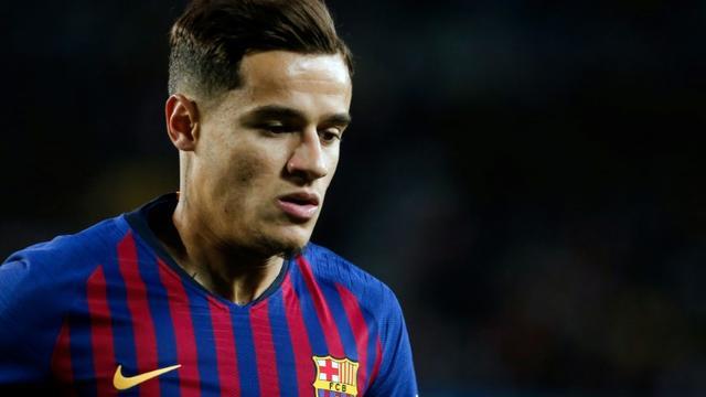 Le Brésilien Coutinho sous les couleurs du FC Barcelone, en avril 2019. [PAU BARRENA / AFP/Archives]