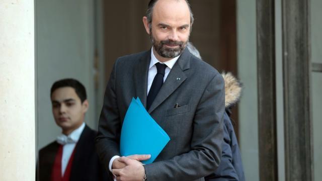Le Premier ministre Edouard Philippe à l'Elysée, le 21 février 2019. [LUDOVIC MARIN / AFP]
