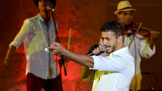 Le chanteur marocain Saad Lamjarred sur scène le 31 juillet 2016 lors du festival de Carthage en Tunisie [FETHI BELAID / AFP/Archives]
