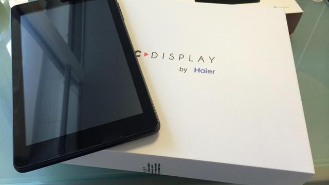 La tablette Cdisplay, de Haier, est proposée au tarif de 50 euros.