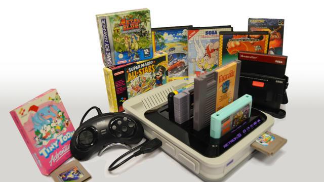 Hyperkin a lancé la Retron 5, qui permet de jouer en HD avec des cartouches d'anciennes consoles.