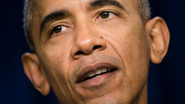 Le président Barack Obama à Washington, le 29 janvier 2016 [Brendan Smialowski / AFP/Archives]
