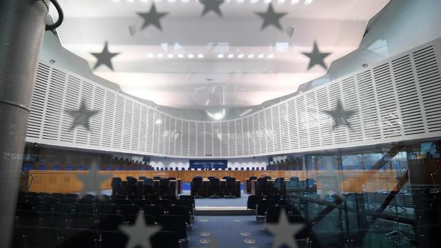 Cette photo montre l'intérieur de la Cour européenne des droits de l'homme (CEDH) à Strasbourg, dans l'est de la France, le 7 février 2019.