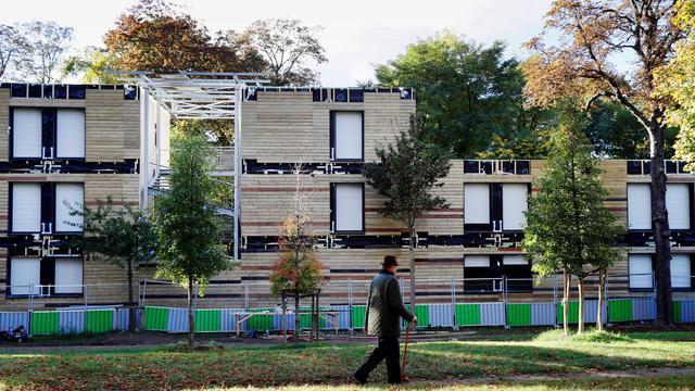 La structure d'accueil a ouvert en novembre 2016, à la lisière du bois de Boulogne.