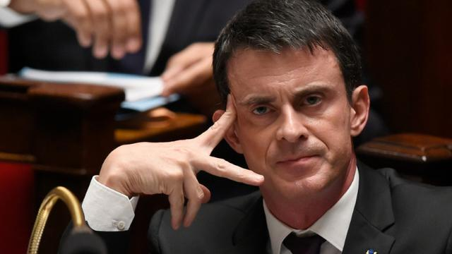 Le Premier ministre, Manuel Valls, à l'Assemblée nationale à Paris, le 16 décembre 2015 [DOMINIQUE FAGET / AFP/Archives]
