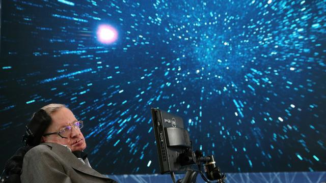 L'astrophysicien britannique Stephen Hawking, le 12 avril 2016 à New York [Jemal Countess / Getty/AFP/Archives]
