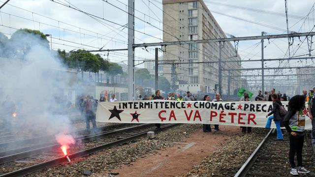 Manifestation pour dénoncer la précarité, le 17 juin 2014 à Paris [William Delaporte / AFP/Archives]