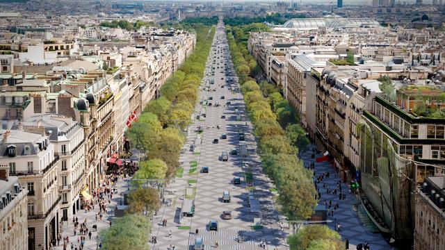 Voici le projet présenté par l'architecte Philippe Chiambaretta, à la demande du comité des Champs-Elysées.
