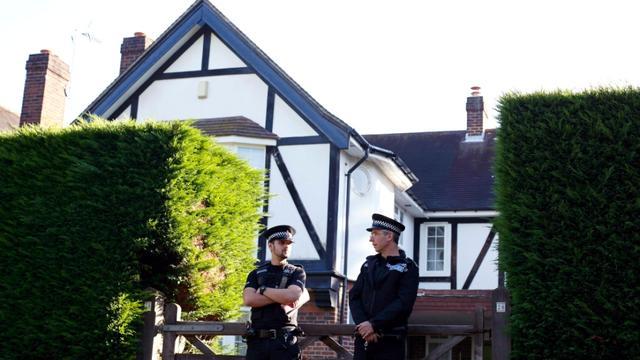 La maison des victimes dans la banlieue de Londres.
