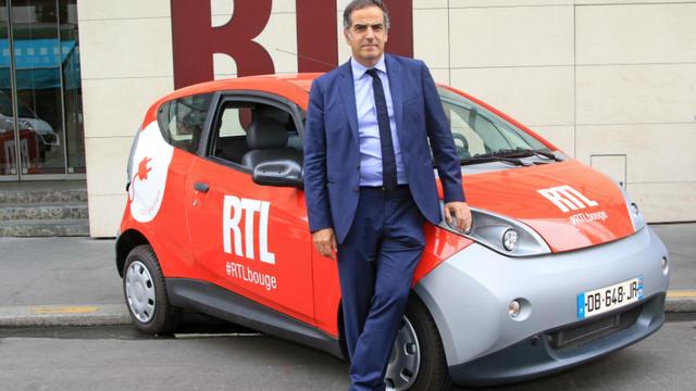 Christopher Baldelli, président de RTL en France, a réceptionné les deux Bluecar.